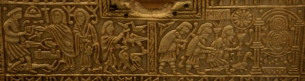 The Franks Casket includes images from Germanic and Christian mythology