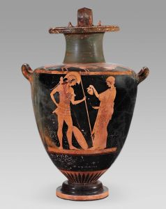 greek libation urn